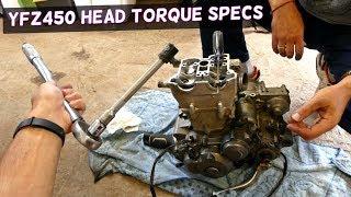 2. YAMAHA YFZ450 CYLINDER HEAD TORQUE SPECS