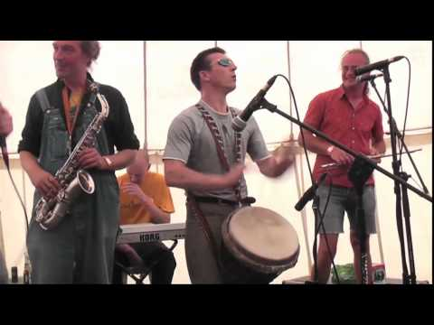 Psychedelic funk with live djembe, driving bass and screaming sax