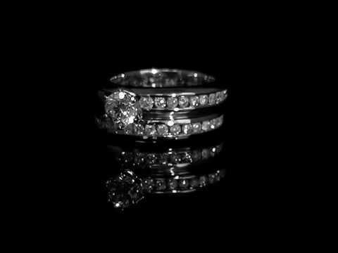 1 5/8 CTW Diamond Engagement Ring Wedding Band Bridal Set in 14K White Gold