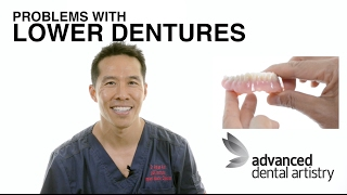 Problems with lower dentures