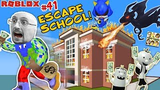 ESCAPE SCHOOL with DRAGON & Get Rich 💲 Roblox #41 💰 FGTEEV