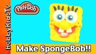 Lets Make a Play Doh SpongeBob SquarePants by HobbyKidsTV