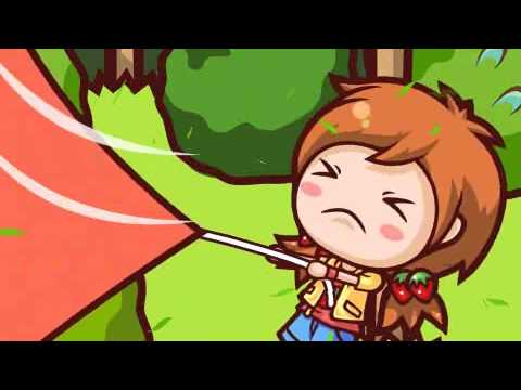 【CookingMama Movie】Putting Up A Tent! - キャンプでテントをはろう!