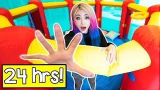 Video 24 Hours In A Bounce House Challenge! MP3, 3GP, MP4, WEBM, AVI, FLV Desember 2018