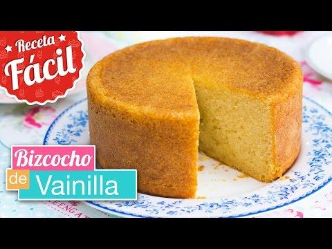 BIZCOCHO DE VAINILLA ESPONJOSO | Receta FÁCIL | Quiero Cupcakes!