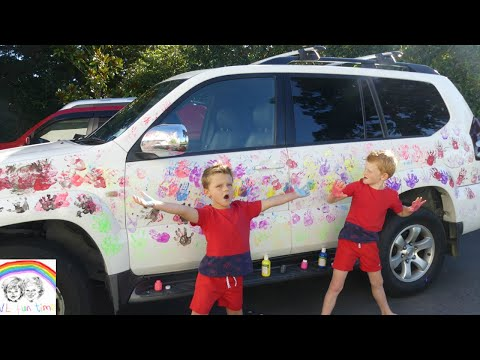 Video LEARN COLORS with PAINT HAND PRINT ON CAR!!!! KIDS PAINT CHALLENGE!!!! download in MP3, 3GP, MP4, WEBM, AVI, FLV January 2017