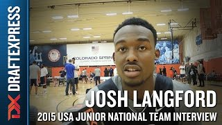Josh Langford 2015 USA Basketball Mini-Camp Interview
