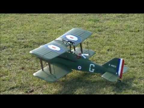 Maiden Flight Parkzone SE-5A Biplane
