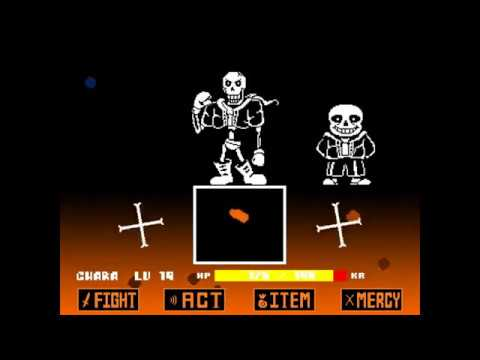 [unitale,cyf] Undertale-the Forgotten End Papyrus Battle Update2! [demo,undertale Fangame]