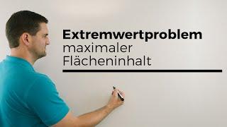 Extremwertproblem, Punkt auf Graph, Dreieck, maximaler Flächeninhalt, Ansatz   Mathe by Daniel Jung