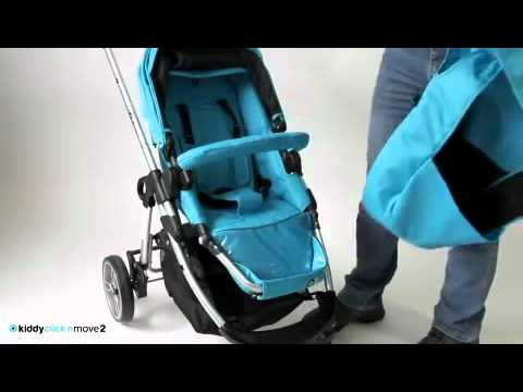 Коляска 2в1 Kiddy Click'n Move 2 4-х колесная Black / Black