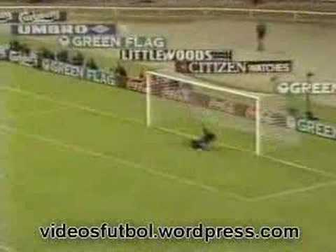 Rene - Rene Higuita's incredible Scorpion kick during a friendly with England at Wembley in 1995.