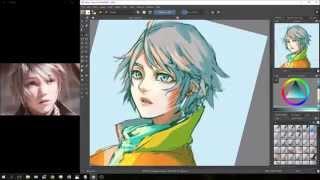 """60 min speed paint - """"Hope"""" (FFXIII)"""