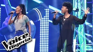 A'rese vs Flourish sing 'Stronger' / The Voice Nigeria 2016