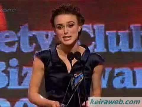 Keira Knightley receives Best Actress award from Variety Club of Great Britain, 25/11/07
