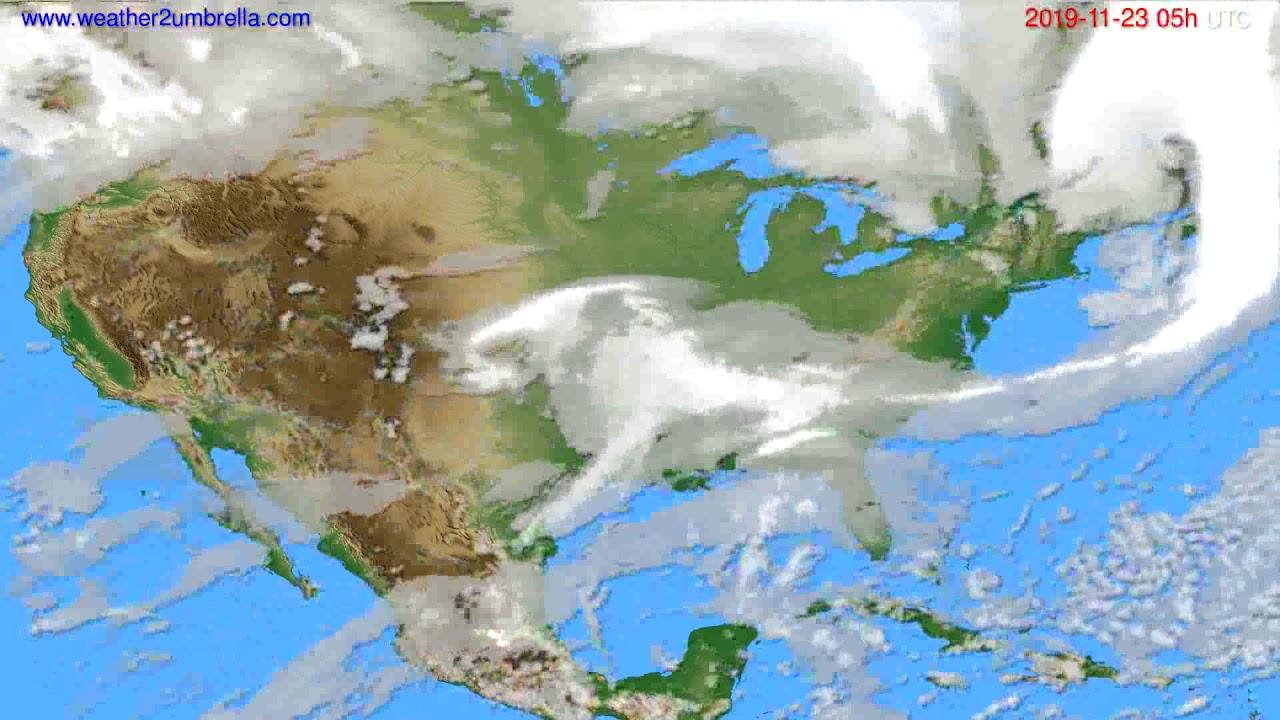 Cloud forecast USA & Canada // modelrun: 00h UTC 2019-11-22