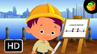 London Bridge - English Nursery Rhymes -  Animated/ Cartoon Songs For Kids