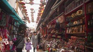 [Walking tour 漫步遊] Souvenir street Wangfujing Beijing  北京 王府井禮品街