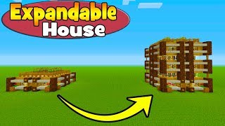 """Minecraft Tutorial: How To Make A Expandable House """"House You Can Make Bigger"""""""