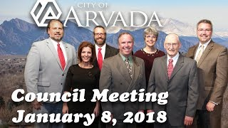Preview image of Arvada City Council Meeting - January 8, 2018
