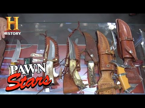 Pawn Stars: HIGH PRICE for RARE HIGH END KNIVES (Season 8)   History