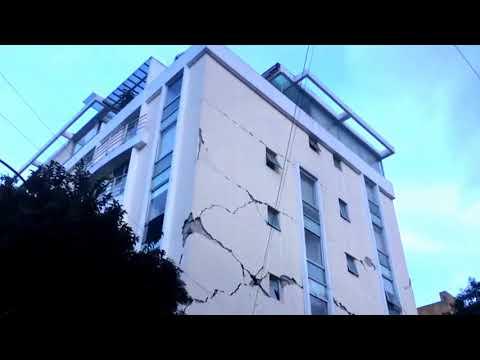 Dañado Edificio Tepic 40 (#Sismo 19/09/17) (видео)