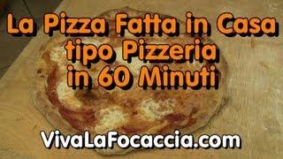 La Ricetta Della Pizza Veloce Nel Forno A Legna