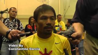 Manny Pacquiao On Floyd Mayweather Making Fun On Him  - esnews boxing