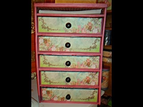 Video Repurpose/Recycle/Diy Organizer Made With Cardboard Tutorial/Chest of drawers download in MP3, 3GP, MP4, WEBM, AVI, FLV January 2017