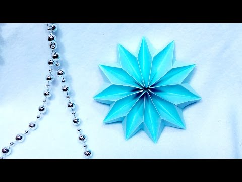 Easy 2 minutes snowflake! Christmas and New year 2017 decoration and ideas