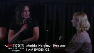 I AM EVIDENCE Filmmakers Mariska Hargitay and Trish Adlesic during the post-screening Q&A at AFI DOCS 2017.