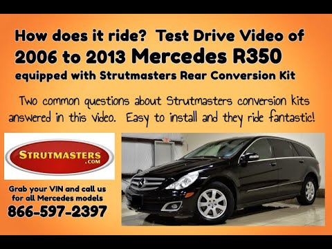 Mercedes R 350 With A Rear Air Spring Replacement By Strutmasters