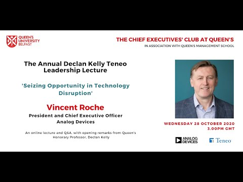 2020 Declan Kelly Teneo Lecture   Vincent Roche, President and CEO of Analog Devices
