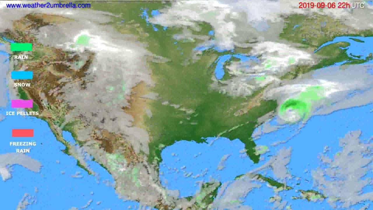 Precipitation forecast USA & Canada // modelrun: 00h UTC 2019-09-04