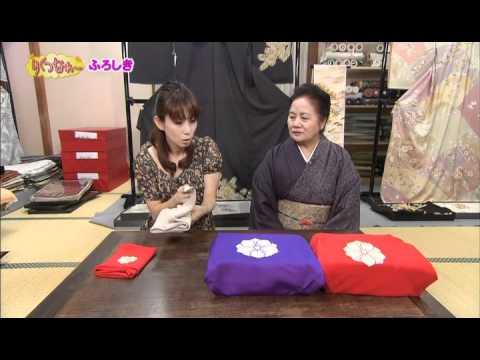 石川テレビ「リフレッシュ」に風呂敷の紹介で出演