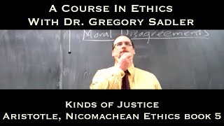 Kinds Of Justice (Aristotle, Nichomachean Ethics Bk. 5)