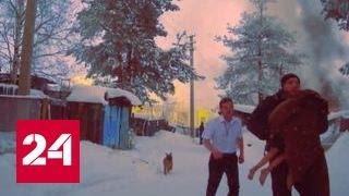 В Сургуте полицейские спасли ребенка из горящего дома