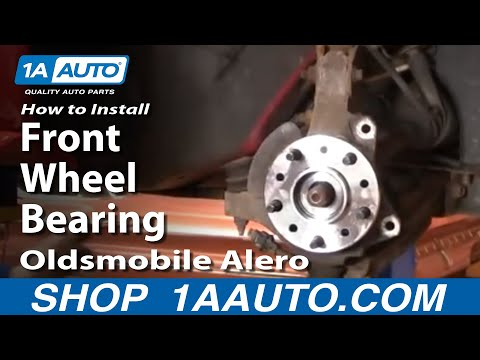 How To Install Replace Front Wheel Bearing Hub Oldsmobile Alero 99-04 1AAuto.com