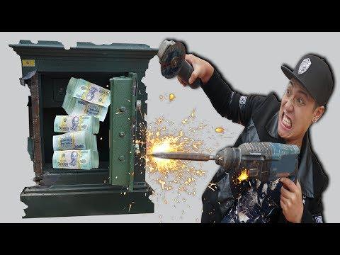 NTN - Thử Thách Phá Hủy Két Sắt Lấy 100 Triệu VNĐ (Destroying the safe and get the money challenge) - Thời lượng: 20:21.