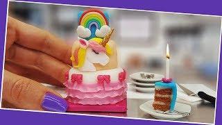 Video Mini UNICORN cake + Birthday Party with mini surprises. UNBOXING! :) Mini cooking, tiny cooking ASMR MP3, 3GP, MP4, WEBM, AVI, FLV September 2018