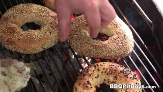 Bacon Bagel Burgers recipe by BBQ Pit Boys