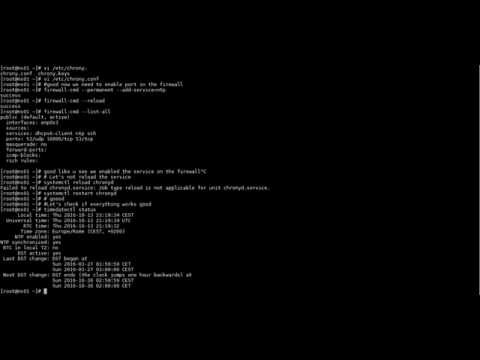 How to Install and Configure NTP Server and Client on centos 7/RHEL7 (видео)