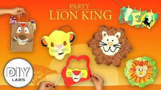 LION KING Party | DIY Decorations, Snacks, Party Props and Birthday Cake