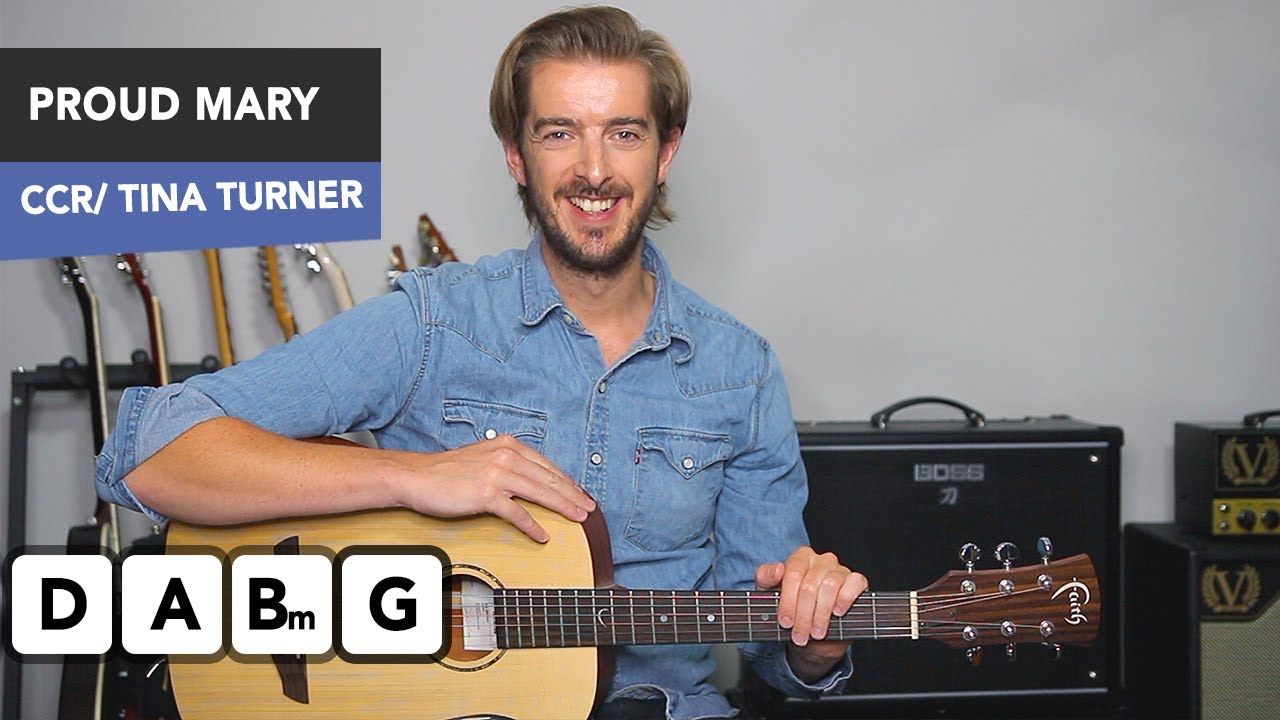Proud Mary Guitar Lesson Tutorial Tina Turner/ CCR – Easy guitar songs Andy Guitar