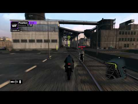 Watch Dogs - Online Multiplayer #3 - Epic Motorcycle Race [PS4][1080p]