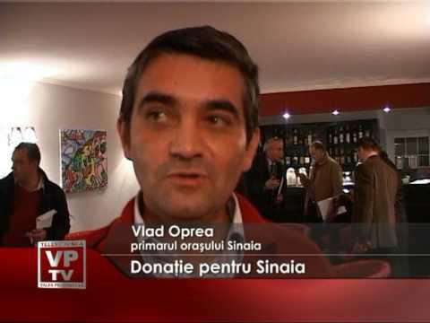 Donaţie pentru Sinaia