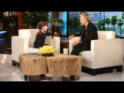 VIDEO!  Jacob Tremblay From ROOM On Ellen! He Is The Sweetest!!