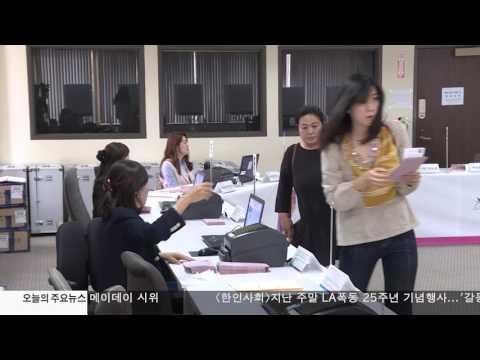 재외선거 종료 역대 최고 투표율 5.1.17 KBS America News