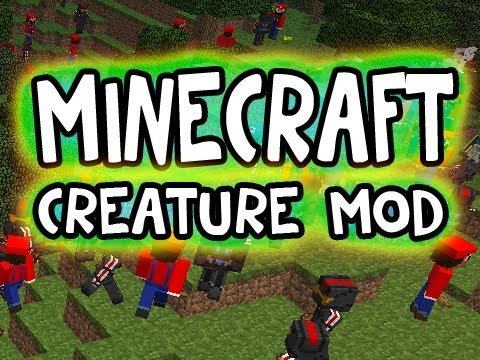 Minecraft Solo: THE CREATURE MOD W.I.P!! (1.6.6 version) Video
