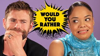 "Video The Cast Of ""Thor: Ragnarok"" Plays Superhero Would You Rather MP3, 3GP, MP4, WEBM, AVI, FLV Juli 2018"